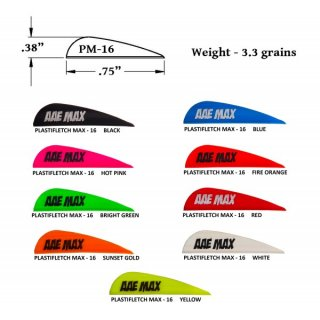AAE VANES PLASTIFLETCH MAX PM20 - SHIELD